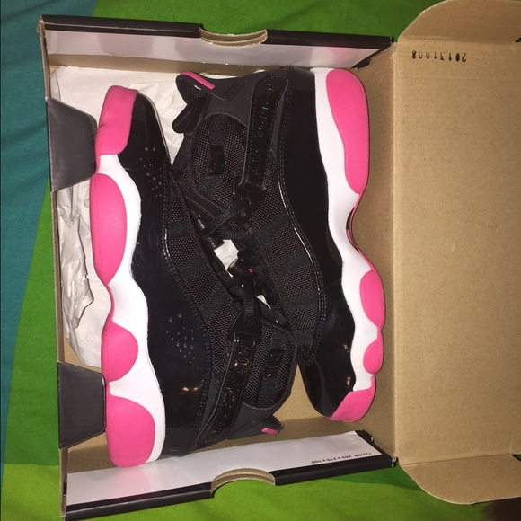 new product 1149a e56c9 Jordan 6 Rings, Black/Spark Pink - Girls (GS)