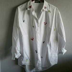 Tops - Robot Button Up Shirt
