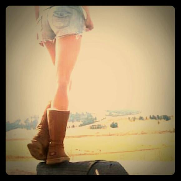 45527424185 UGG Sumner Chestnut Tall Zip Up Boots- 7