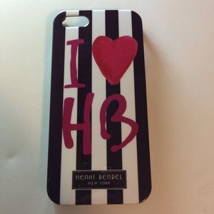 henri bendel Accessories - Henri Bendel I love HB stripe phone case