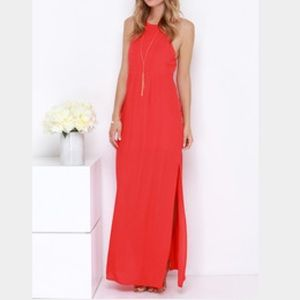 🆕 Red open back Maxi dress