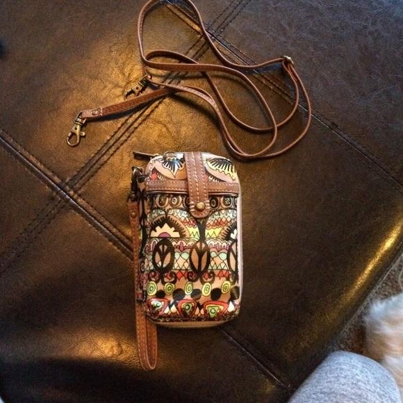 new concept d37f2 2ab79 Sakroots Boho IPhone carrier wristlet wallet