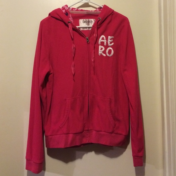 75% off Aeropostale Tops - AERO Zip up hoodie. Fleece ...