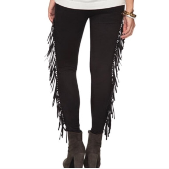 76939f0336f57 Black Faux Suede Fringe Leggings. M_578883975c12f8c4a80344bb. Other Pants  you may like. Forever21 black leggings
