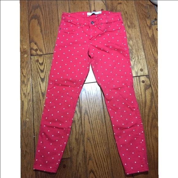 Abercrombie fitch denim af red polka dot jeans poshmark af red polka dot jeans sisterspd