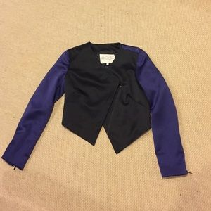 Deep purple and black blazer