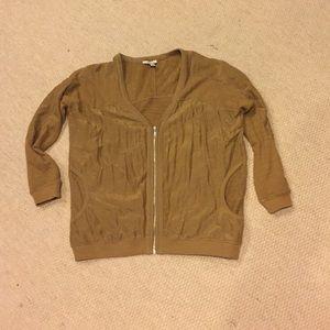 Mustard lightweight sweater/cardigan