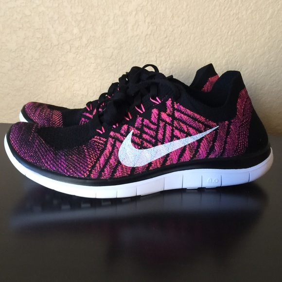 Nike Free 4.0 Flyknit women's size 7.5 pink/white!