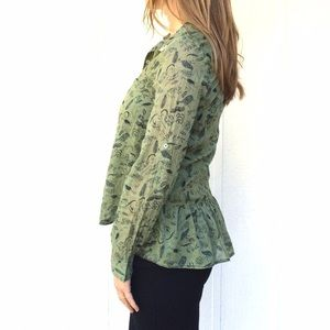 Anthropologie Green shirt