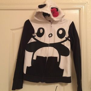 Hot Topic Tops - Hello Kitty  Donu0027t Be A Sad Panda  jacket & Hot Topic Tops | Hello Kitty Dont Be A Sad Panda Jacket | Poshmark