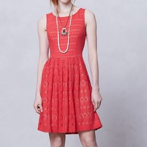 Anthropologie sun stream eyelet dress Size XS
