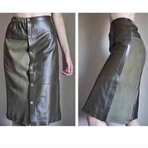 Army green skirt bought from the other posher