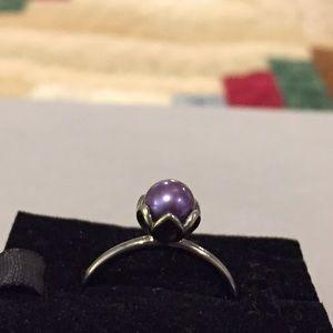 1a17f56e5 low cost pandora floral ring elegance 90b24 f79fb; best price pandora  jewelry pandora purple pearl ring retired 456a6 094a4