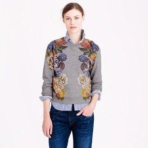 J. Crew Dutch Floral Cropped Sweatshirt XS