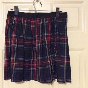 Olsenboye Red, Black and Blue Plaid Mini Skirt