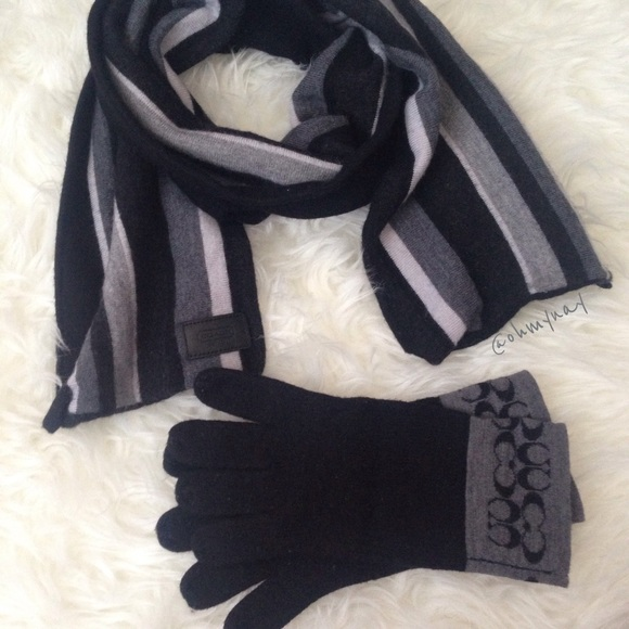 d1a31676f Coach Accessories | Scarf Gloves Set | Poshmark