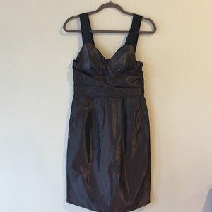 Plum Formal Dress with Satin Straps