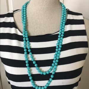NEW turquoise long necklace