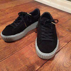 Puma Shoes - Fenty dark blue creepers Rihanna 26a825918b