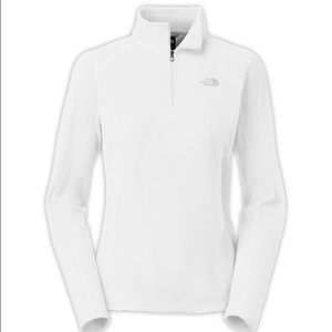North Face Jackets & Blazers - White North Face fleece quarter zip