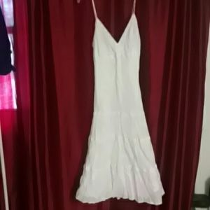 White on White Casual Dress