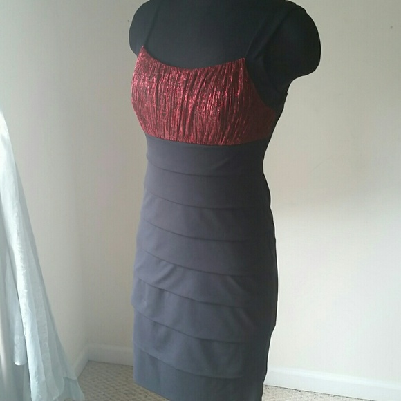 En Focus Dresses & Skirts - ✳ Red Shimmer & Black Dress✳