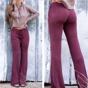 Pants - 💕Burgundy Boho Pants