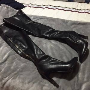 Shoes - Leather Knee high Nine West zip up boots