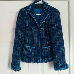 Jackets & Blazers - Blue Tweed Blazer