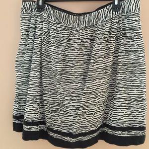 Loft Zebra Print skirt