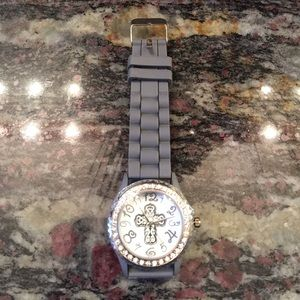 Accessories - Jelli strap women's watch with clear crystals. New