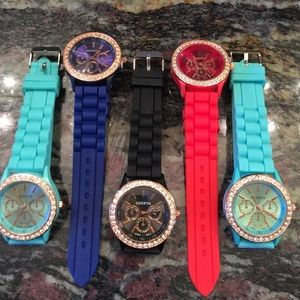 Accessories - Brand new jelli strap women's watch with crystals