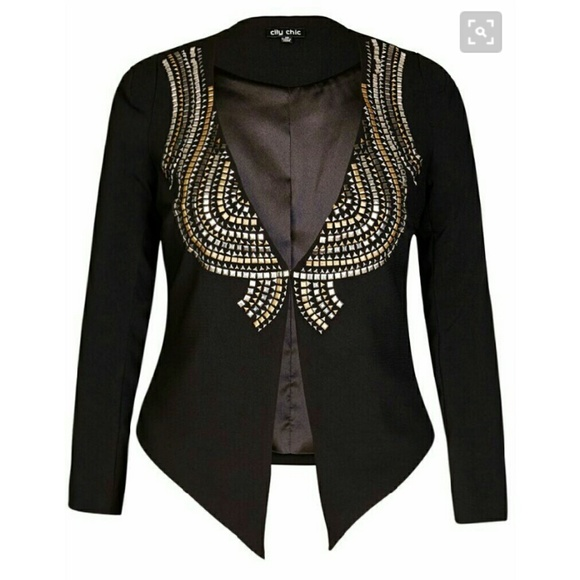 58% off City Chic Jackets & Blazers - City Chic black studded ...