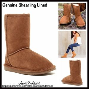 BP Nordstrom Brand A Bound Shoes - GENUINE SUEDE BOOTS Shearling Lined