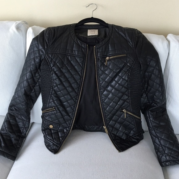34% off Zara Jackets & Blazers - Zara TRF Faux Leather Quilted ... : faux quilted leather jacket - Adamdwight.com
