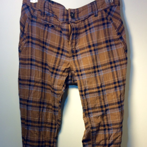 Free People Pants Jumpsuits Plaid Pants Poshmark