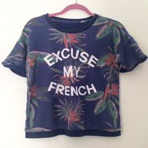 Forever 21 Tops - Tropical Floral Sweater Top Birds of Paradise
