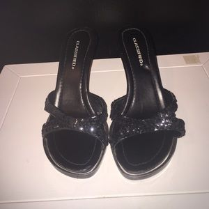 Black Sequenced Shoes