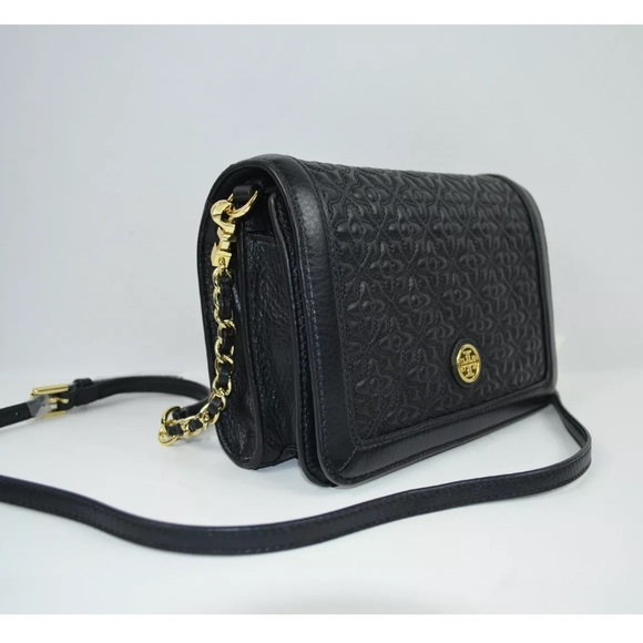 16e5a1f50bf6 New Tory burch Bryant Embossed crossbody bag NWT