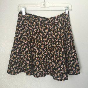 Floral mini high waisted skirt