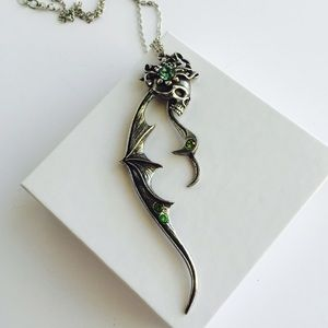 Alchemy Jewelry - Of Times Past Articulated Pewter Swarovski Pendant