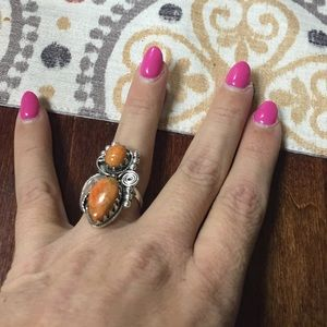 Jewelry - Native American style genuine coral ring