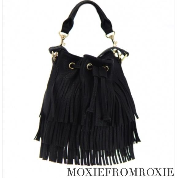 abd6aab07b2d 🎉HOST PICK🎉• new • fringe hobo bag in black
