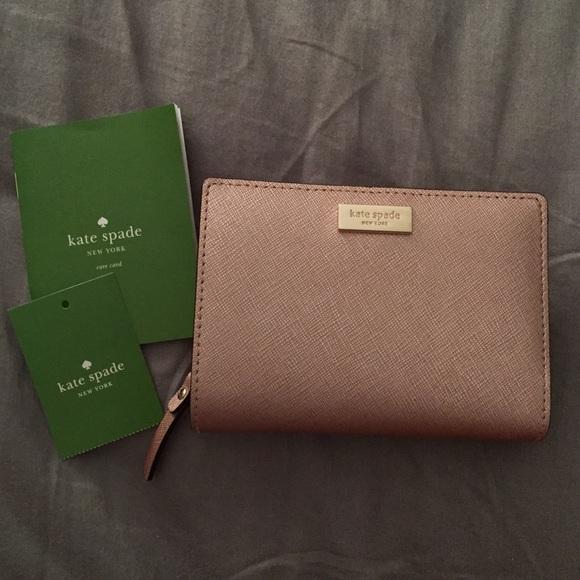 454b952493e Kate Spade Cara Newbury Lane Rose Gold Wallet