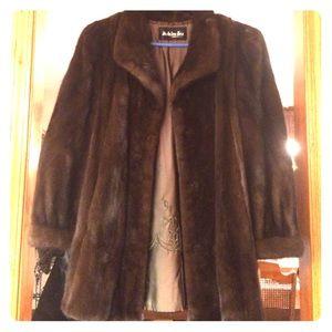 Jackets & Blazers - authentic brown Mink coat