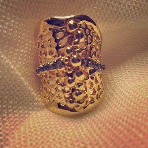 Anitanja Jewelry - 14KGold Plated w white topaz vein