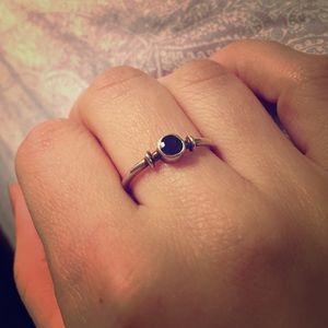 Jewelry - Sterling silver garnet stack ring