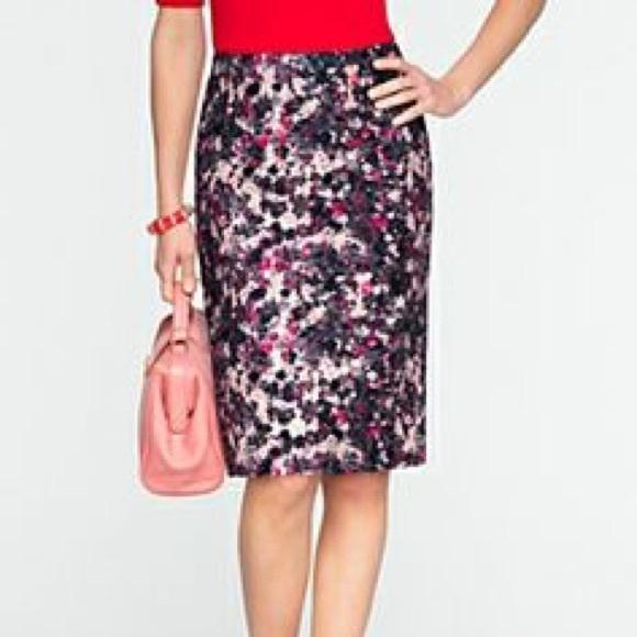 78 talbots dresses skirts beautiful floral pencil