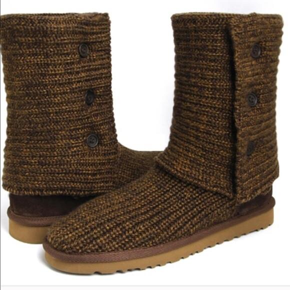 knit uggs tan