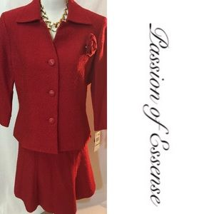Le Suit Dresses & Skirts - 2pc Red Suit by Le Suit
